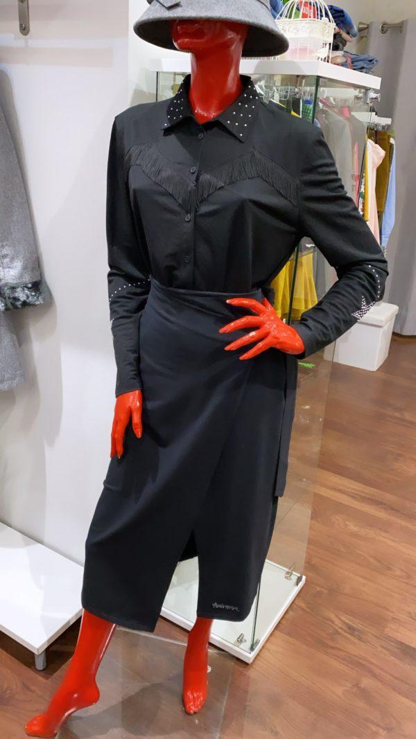 Falda básica cruzada