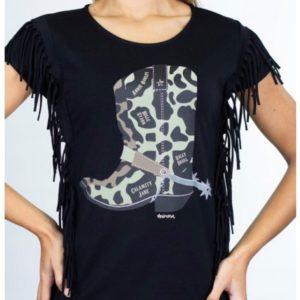 Camiseta Bota Cowgirl