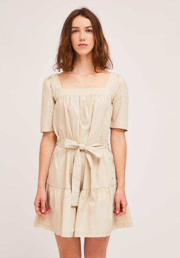 Vestido Aurora beige