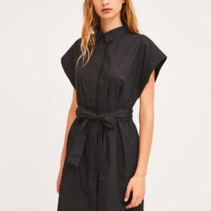 Vestido camisero negro Compañia Fantástica