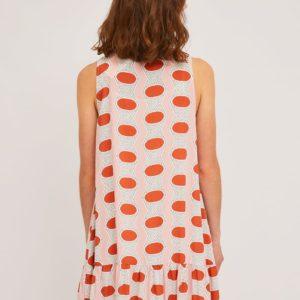 Vestido camisero geométrico