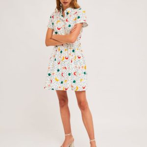 Vestido camisero guindillas