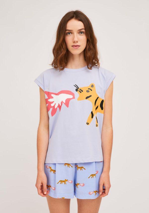 Camiseta estampado tigre