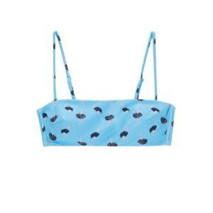 Top de bikini bandeau avestruz
