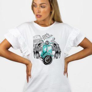 Camiseta Audrey Vespa de Animosa
