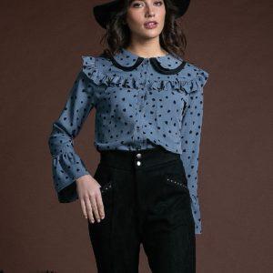 Camisa Blair azul de Akinolaude