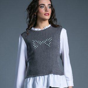 Sweater Crazy Daisy gris de Akinolaude