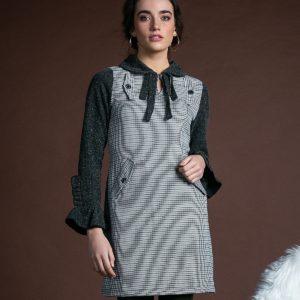 Vestido cocó gris de Akinolaude