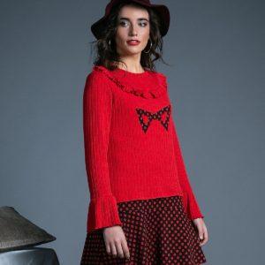 Vestido Crazy Daisy negro rojo de Akinolaude