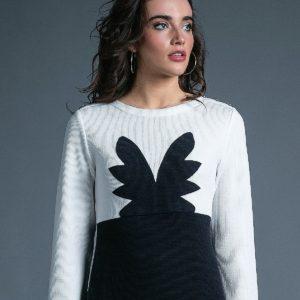Vestido Angel marino y blanco de Akinolaude