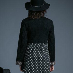 Vestido Serena negro blanco de Akinolaude