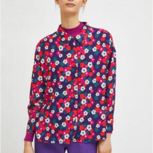 Camisa estampado floral violeta de Compañia Fantastica