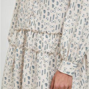 Vestido camisero estampado de pasta de Compañia Fantastica